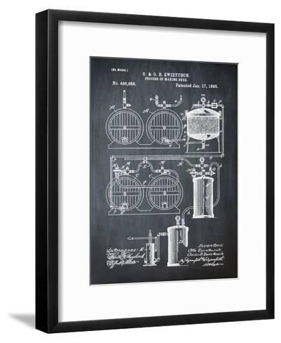 Brewery Patent 1891 Chalk-Bill Cannon-Framed Art Print