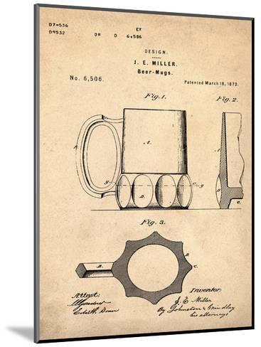 Beer Mug 1873 Sepia-Bill Cannon-Mounted Giclee Print