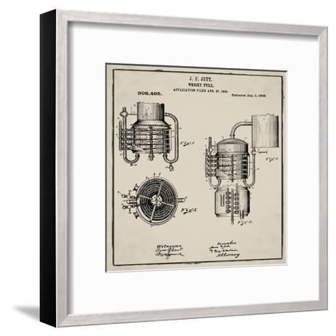 Whiskey Still 1906 Tan-Bill Cannon-Framed Art Print