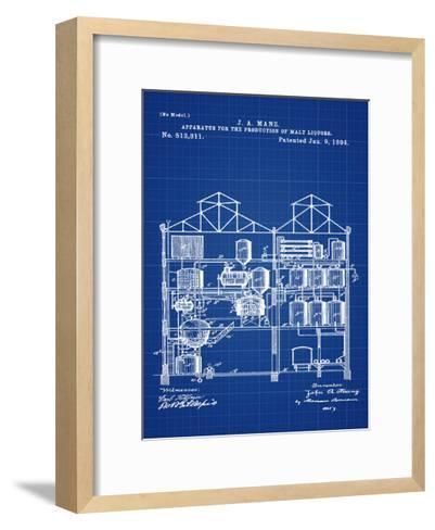 Brewing Malt Liquors 1894 Blue-Bill Cannon-Framed Art Print