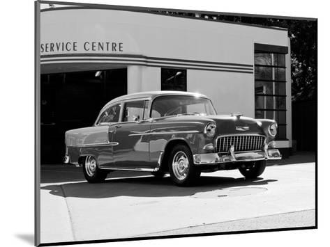 1955 Chev Belair 7 B&W-Clive Branson-Mounted Giclee Print