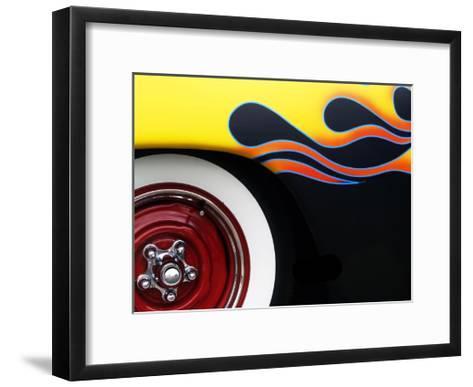 Hot Rod Flames-Clive Branson-Framed Art Print