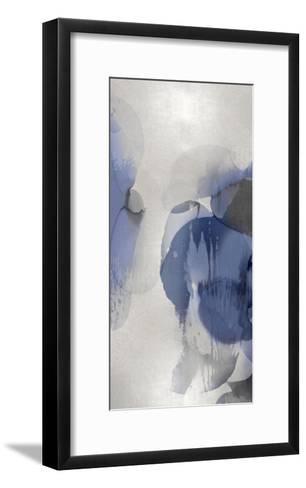 Cascade Indigo Triptych II-Kristina Jett-Framed Art Print