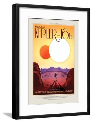 Relax On Kepler--Framed Art Print