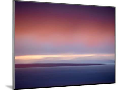 Abstract Sunset-Savanah Plank-Mounted Giclee Print