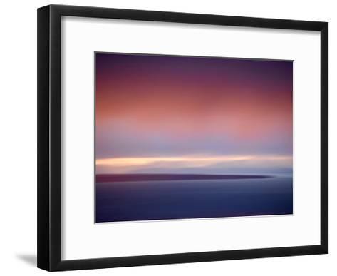 Abstract Sunset-Savanah Plank-Framed Art Print