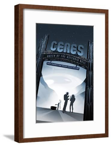 Ceres- Queen Of The Asteroid B--Framed Art Print