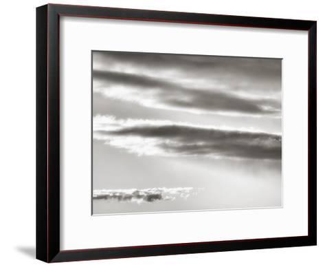 Black and white cloud formatio-Savanah Plank-Framed Art Print