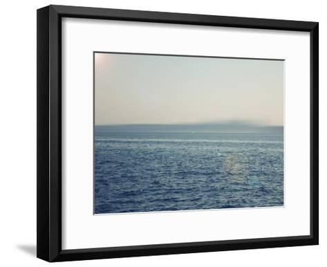 Ocean abstract-Savanah Plank-Framed Art Print