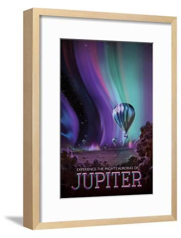 Experience The Mighty Auroras--Framed Art Print
