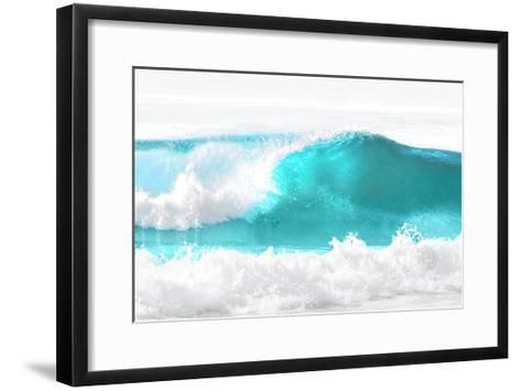 Aqua Wave I-Maggie Olsen-Framed Art Print