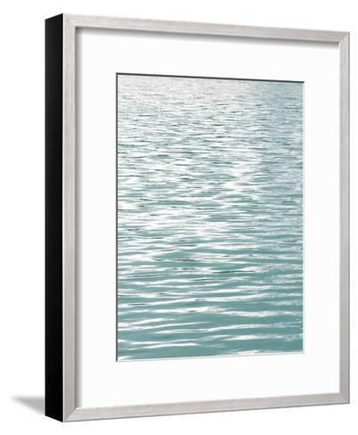 Ocean Current Aqua I-Maggie Olsen-Framed Art Print
