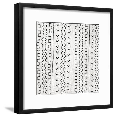 Mudcloth White VI-Ellie Roberts-Framed Art Print