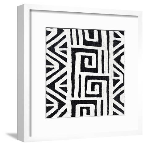 Mudcloth White VIII-Ellie Roberts-Framed Art Print