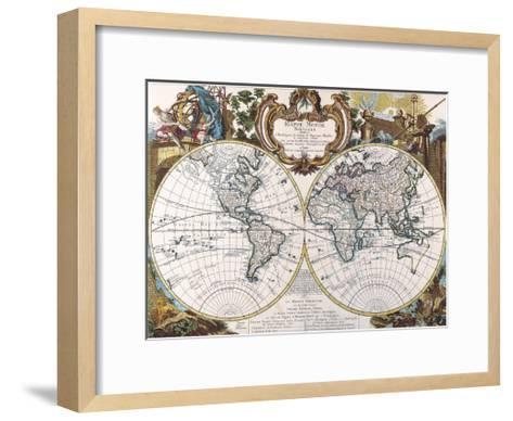 Mappe Monde-1744-Dan Sproul-Framed Art Print