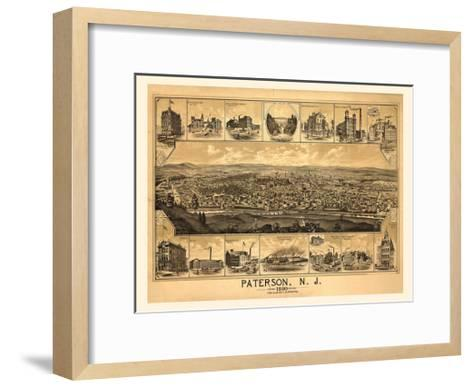 Paterson, NJ-1880-Dan Sproul-Framed Art Print