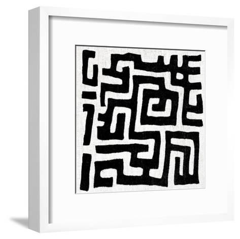 Mudcloth White I-Ellie Roberts-Framed Art Print