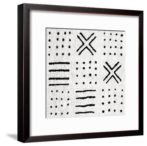 Mudcloth White II-Ellie Roberts-Framed Art Print