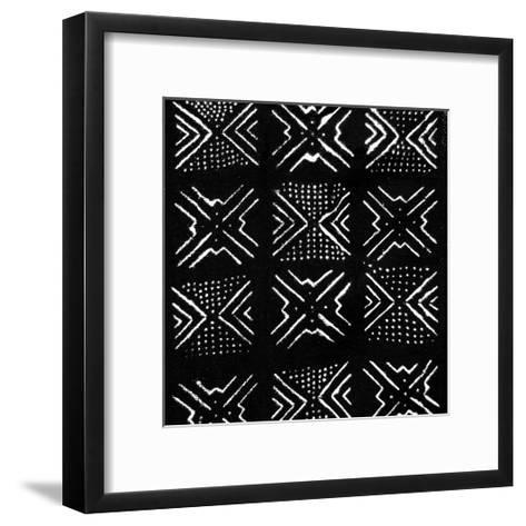 Mudcloth Black IV-Ellie Roberts-Framed Art Print