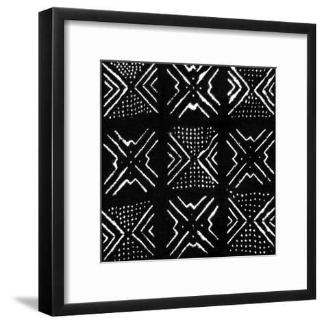 Mudcloth Black V-Ellie Roberts-Framed Art Print
