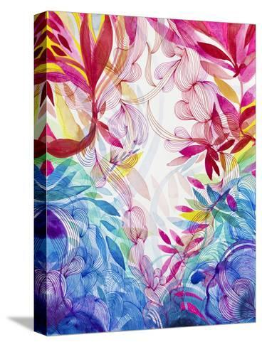 Tropical Love-Helen Wells-Stretched Canvas Print