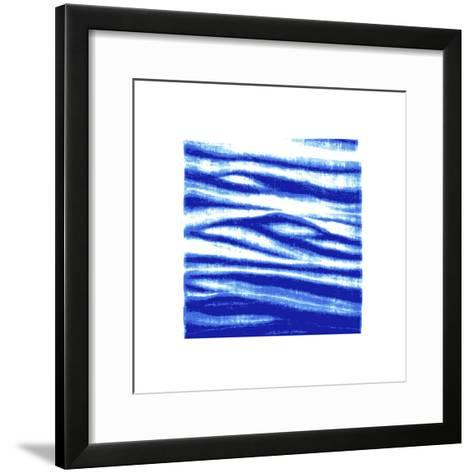 Shibori - Nami--Framed Art Print