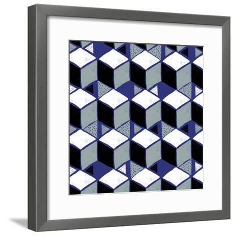 Tumbling Blocks I--Framed Art Print