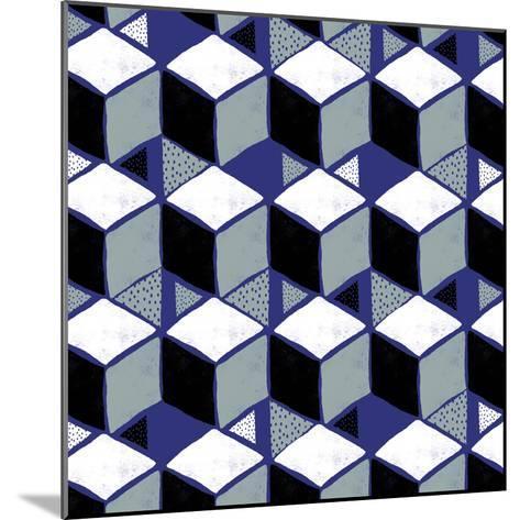 Tumbling Blocks I--Mounted Giclee Print