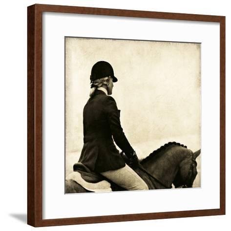 Vintage Equestrian - Ride--Framed Art Print