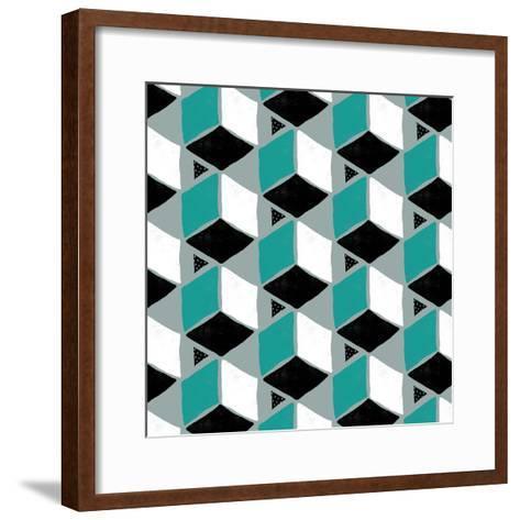 Tumbling Blocks II--Framed Art Print