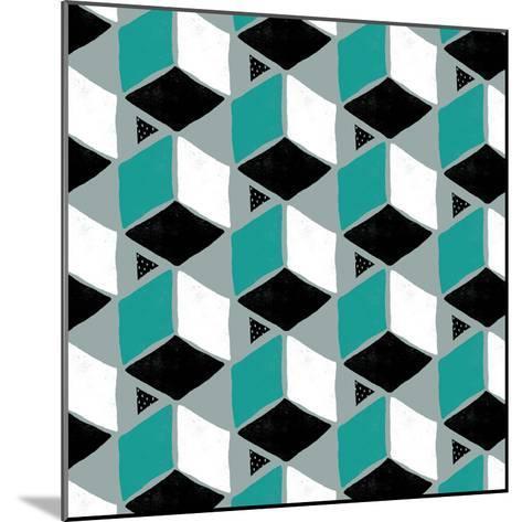 Tumbling Blocks II--Mounted Giclee Print