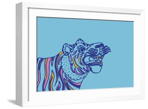 Linear Tiger--Framed Art Print