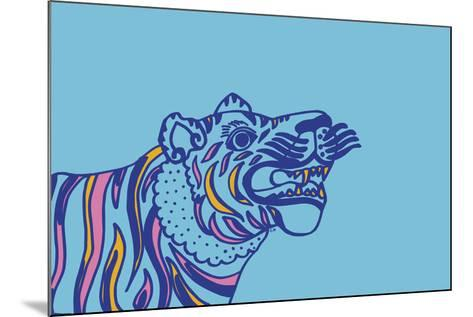 Linear Tiger--Mounted Giclee Print