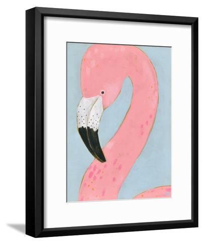 Tropical Birds - Flamingo--Framed Art Print