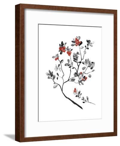 Lingonberry Branch--Framed Art Print