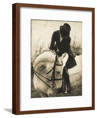 Vintage Equestrian - Transition--Framed Art Print