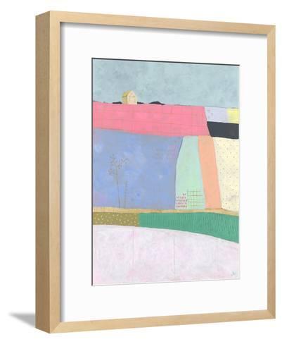 Live Colourfully - Patchwork--Framed Art Print
