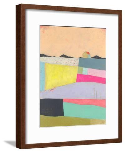 Live Colourfully - Applique--Framed Art Print