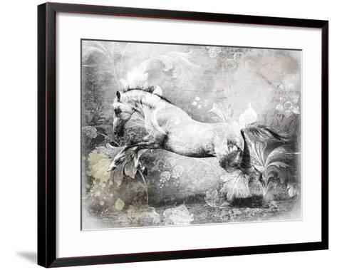 White Horse-GraphINC-Framed Art Print