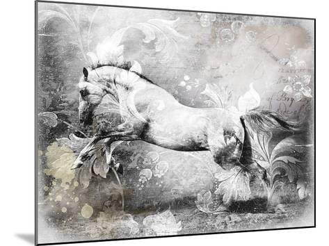 White Horse-GraphINC-Mounted Art Print