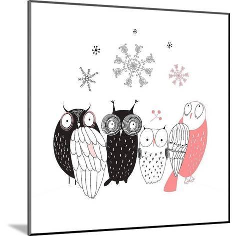 Owl IV-GraphINC-Mounted Art Print