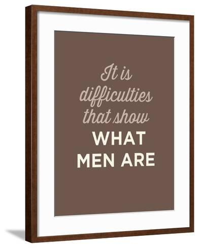 What Men Are-GraphINC-Framed Art Print