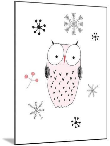 Owl III-GraphINC-Mounted Art Print