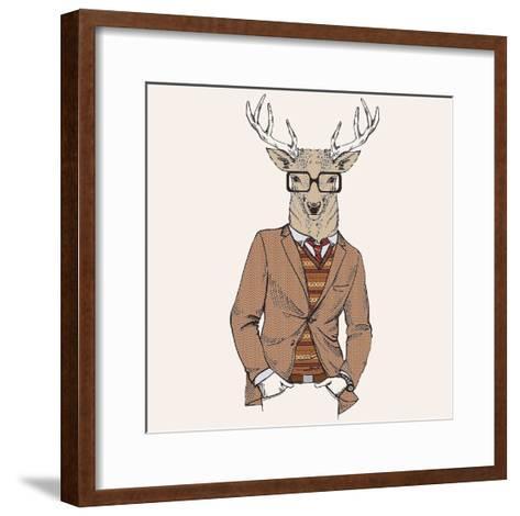Deer-man 1-GraphINC-Framed Art Print