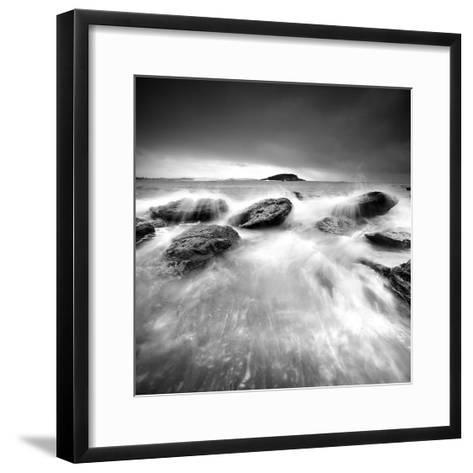 Waves on Rocks-PhotoINC Studio-Framed Art Print