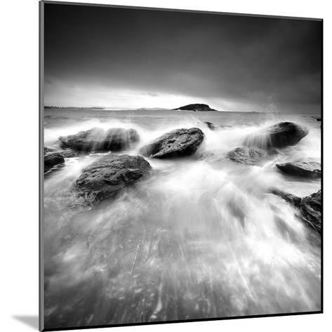 Waves on Rocks-PhotoINC Studio-Mounted Art Print