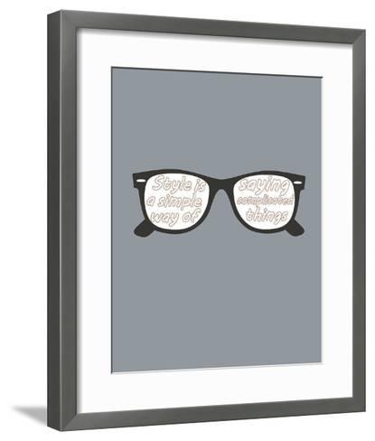 Glasses-GraphINC-Framed Art Print