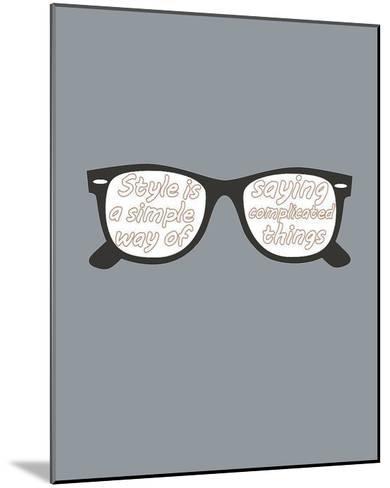 Glasses-GraphINC-Mounted Art Print