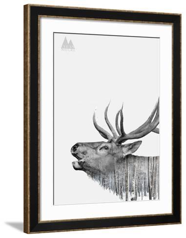 Deer-Clean Nature-Framed Art Print