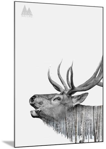 Deer-Clean Nature-Mounted Art Print